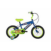 "Bumper Dinosaur 14"" Wheel Pavement Bike Blue/Green Stabilisers"