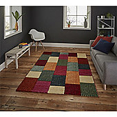Brooklyn Hand Carved Squares Rug - Brown