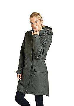 Zakti Rain On Fur Lined Waterproof Coat - Khaki