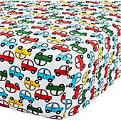 Transport Vehicles Toddler Fitted Sheet