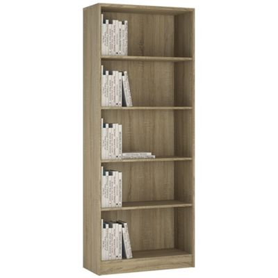 Kensington Tall Wide Bookcase Sonama Oak