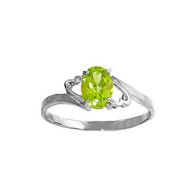 QP Jewellers 0.75ct Peridot Ring in Sterling Silver - Size C 1/2