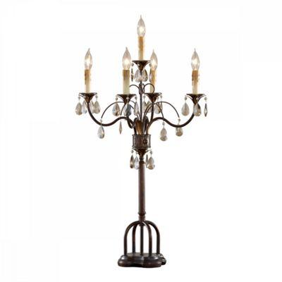 Palladio / Dark Walnut 5lt Table Lamp - 5 x 40W E14