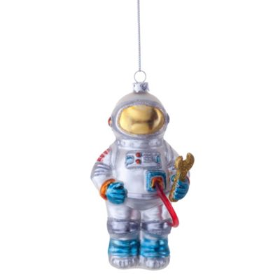 Buzz the Astronaut Novelty Glass Christmas Tree Bauble Decoration