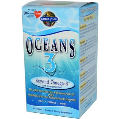 Garden Of Life Oceans 3Beyond Omega 3 60 Softgels