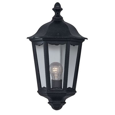 Alex outdoor wall light - 1 light black 'half'