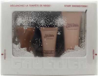 Jean Paul Gaultier Classique Snowstorm Edition Gift Set 50ml EDT + 75ml Body Lotion + 30ml Shower Gel For Women