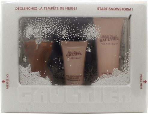 Jean Paul Gaultier Classique Snowstorm Edition Gift Set 50ml EDT + 75ml Body Lotion + 30ml Shower Gel For Women