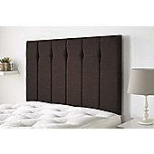 Aspire Furniture Amberley Headboard in Malham Weave Fabric - Brown - Brown