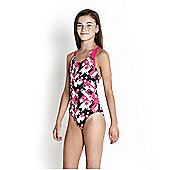 Speedo Girl's Allover Splashback Swimsuit - Pink