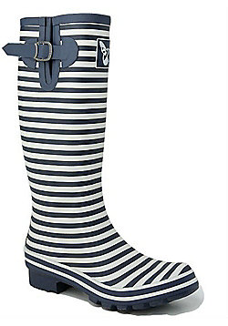 Evercreatures Ladies Marine Collection Bristol Wellies in Blue - Size 8 (UK)