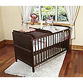 Isabella Cot Bed/Jnr Bed Walnut With Foam Mattress/Cot Top Changer/Under Drawer