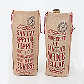Christmas Novelty Wine Bags - Set of 4