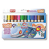 Playcolor Textil Pocket 5g Solid Poster Paint Stick (Pack of 12 - Assorted Colours)