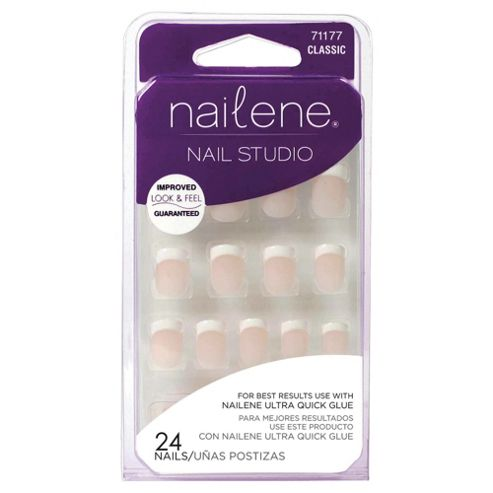 Nailene Nail Studio Artificial Nails Short French 71177