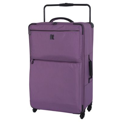 Buy IT Luggage World's Lightest 4-Wheel Purple Check Large ...