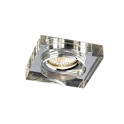 Crystal Downlight Deep Square Rim Only Clear
