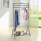 Homcom Entryway Coat Rack Display Stand Storage Organizer - Black