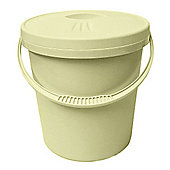 Junior Joy Nappy Bin/Bucket with Lid - 16 Litre Capacity (Cream)