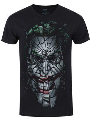 Joker DC Comics Shattered Men's T-shirt, Black.