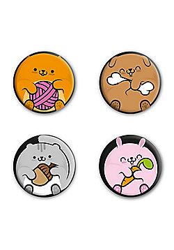 Chubby Cuties Badge Pack 2.5x2.5cm - Multi