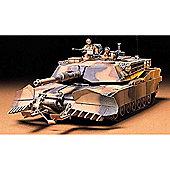 U.S M1A1 Abrams With Mine Plow - 1:35 Scale Military - Tamiya