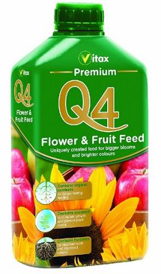 Vitax Q4 Premium Flower and Fruit Plant Feed - 1 Litre