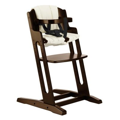 BabyDan DanChair High Chair Walnut With Beige Cushion
