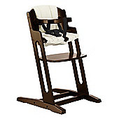 BabyDan DanChair High Chair Walnut With Beige Cushion