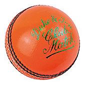 "Dukes Cricket Club Match ""A"" Mens 156g (5.5oz) Cricket Ball Orange"