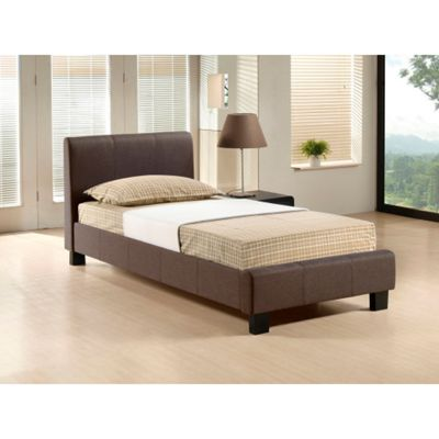 Brown Fabric Bed Frame - Single 3ft