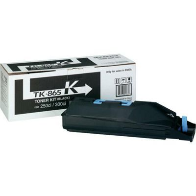 Kyocera Mita TK-865K Black (Yield 20,000 Pages) Toner Kit for TaskAlfa 250ci/300ci Colour Printers