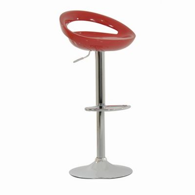 Crescent Red Breakfast Bar Stool