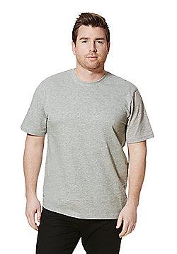Jacamo Crew Neck T-Shirt - Grey marl