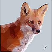 Birthday, Anniversary Greetings Card - Fox Animal Design - Blank