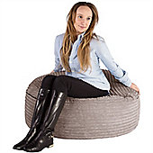 Lounge Pug® 2 in 1 Extra Large Bean Bag Chair & Pouffe - Cord Mink