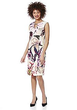 Roman Originals Floral Print Scuba Pencil Dress - Pink