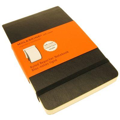 Moleskine Soft Ruled Reporter Notebook Pocket