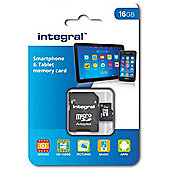Integral 16GB Smartphone and Tablet microSDHC UHS-I U1 Memory Card