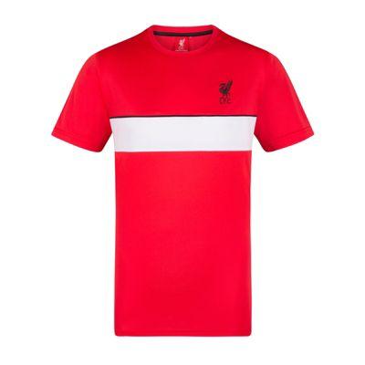 Liverpool FC Mens Poly T-Shirt Red LFC Medium