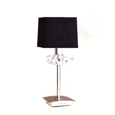 Akira Table 1 Light Antique Brass With Black Shade