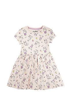 F&F Bunny Print Skater Dress - Pink
