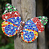 Multi-coloured Mosaic Wall Mountable Butterfly Garden Wall Art Ornament