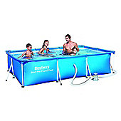 "Bestway Steel Pro Rectangular Frame Pool With Pump 157"" x 83"" x 32"" - 56424"