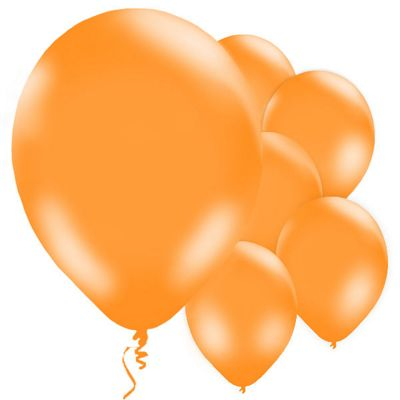 Orange 11 inch Latex Balloons - 10 Pack