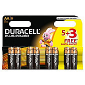 8 x Duracell AA MN1500 Plus Power Batteries