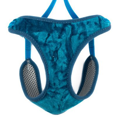 Ancol Velvet Cool Teal Cat Harness & Lead - Small