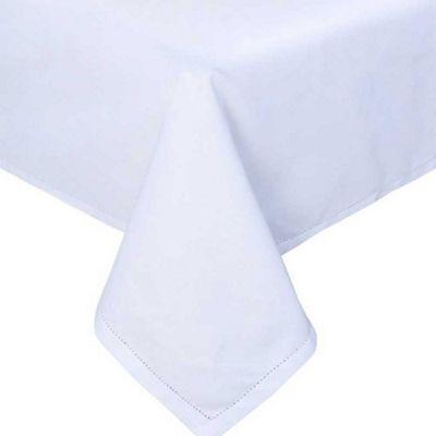Homescapes Plain Cotton White Tablecloth, 54 x 70 Inches