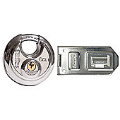 Henry Squire DCL1/DCH1C Disc Lock Plus Hasp & Staple