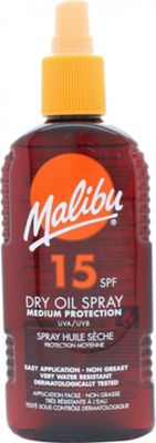 Malibu Sun Dry Oil Spray 200ml SPF15